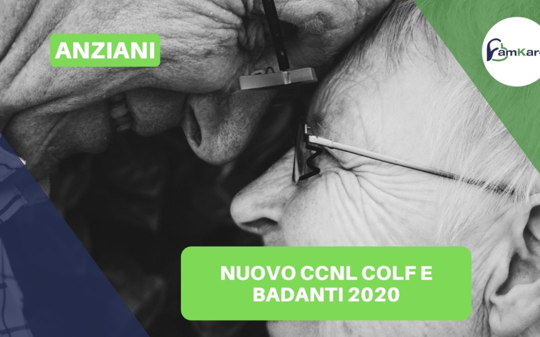 Nuovo CCNL Colf e Badanti 2020